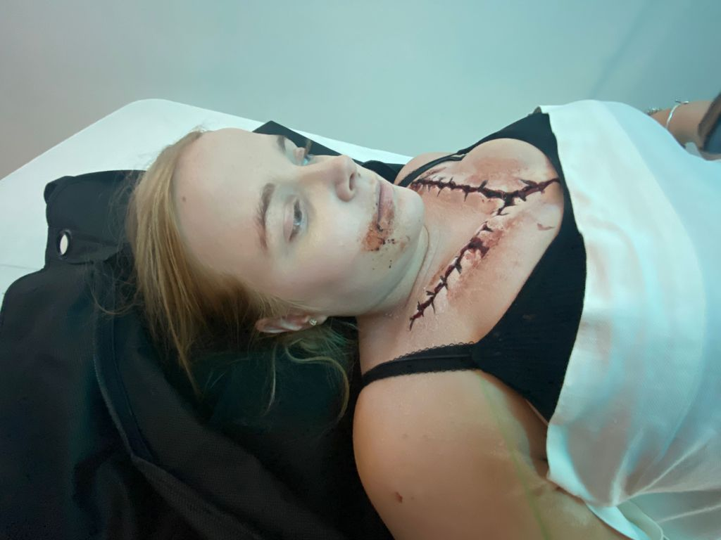 SFX Makeup Scars and Wounds Girl